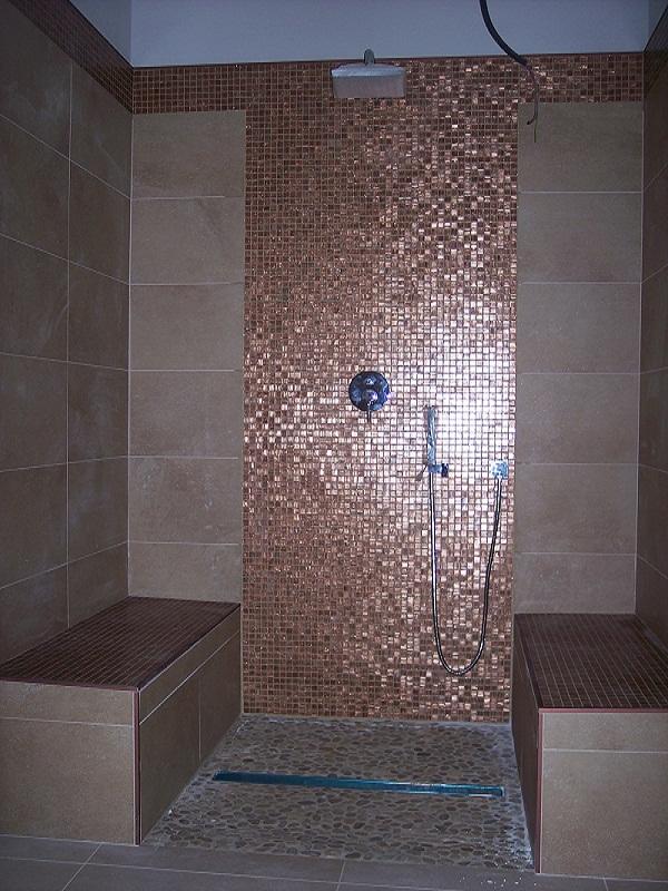 Top bagni con mosaico bz38 pineglen - Mosaico blu bagno ...
